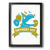 DS 絵 アートパネル キャンバスアートパネル フォトフレーム 絵 ポスター 壁飾り誕生日 男の子 恐竜 ラプター 30*40cm