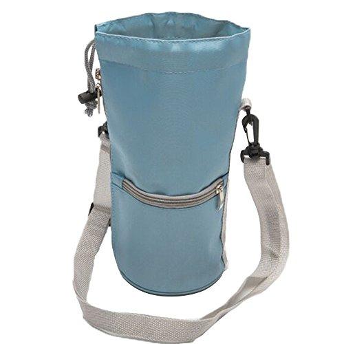BSMONLAN ボトルホルダー ペットボトルホルダー 1L~1.5L用 大容量 ボトルカバー 水筒ホルダー ボトルケース ペットボトル カバー 水筒カバー ポケット付き 小物収納 登山 アウトドア 男女兼用 (ブルー)