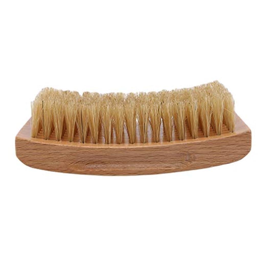 縮れたシンプルな年次Largesoy ひげブラシ シェービングブラシ 理容 洗顔 髭剃り 泡立ち ひげ剃り 美容ツール シェービング用アクセサリー 1#