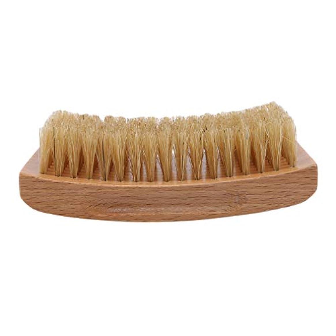 蒸留するスローガン刺すLargesoy ひげブラシ シェービングブラシ 理容 洗顔 髭剃り 泡立ち ひげ剃り 美容ツール シェービング用アクセサリー 1#