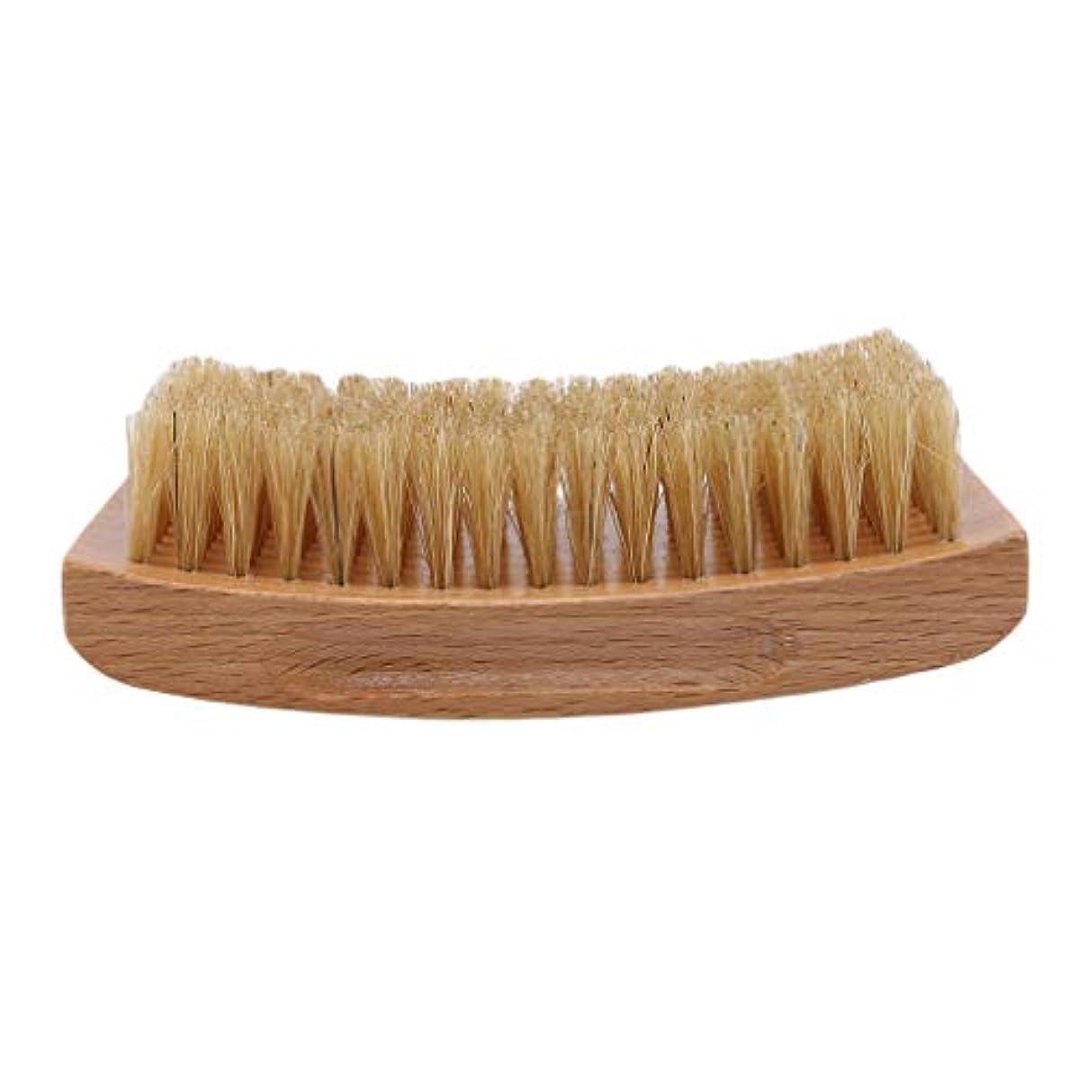 くさび測定ニックネームLargesoy ひげブラシ シェービングブラシ 理容 洗顔 髭剃り 泡立ち ひげ剃り 美容ツール シェービング用アクセサリー 1#