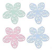 花タイプシリコンプレースマットキッチンアンチホットマット - ポット断熱パッドキッチンボウルプレートパッド - 滑り止めの耐熱性耐久性のある柔軟な食器洗い機セーフ(4個)