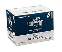 Crystalware Plastic Sip Stirrers 13cm 1000/box, Black (10 Boxes)
