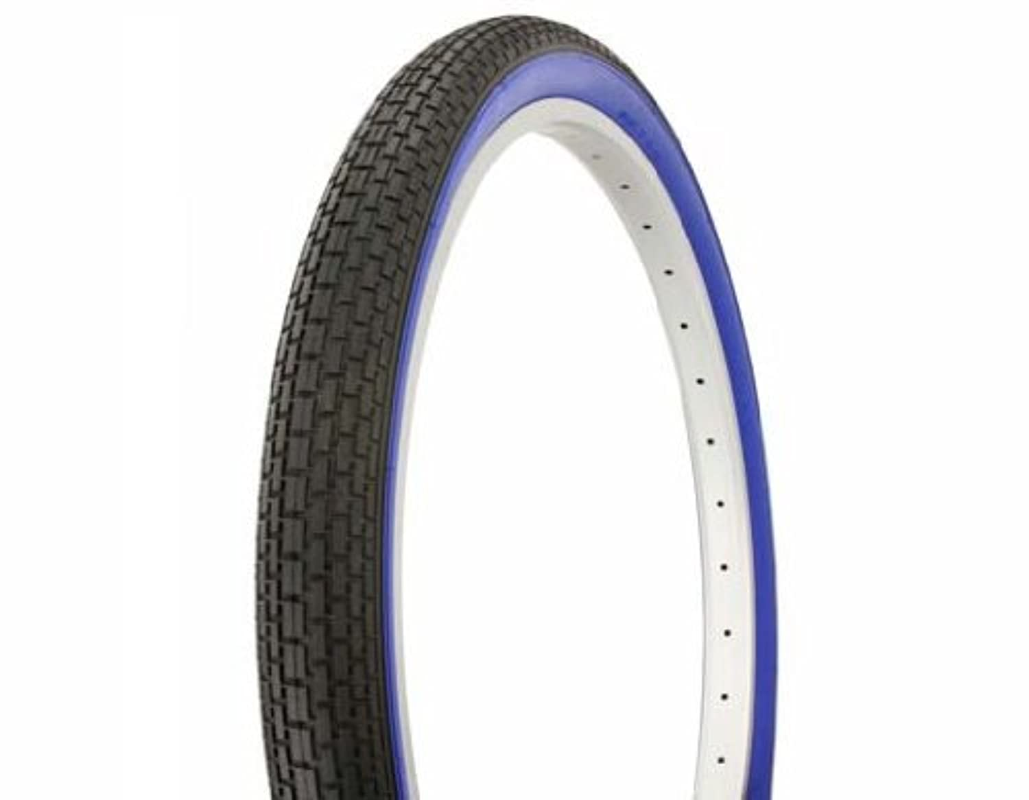 Tire Duro 26 x 2.125 Black/Blue Side Wall HF-120A. Bicycle tire, bike tire, beach cruiser bike tire, cruiser bike tire, chopper bike tire, trike tire, tricycle tire by Lowrider
