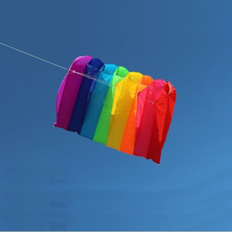 Gobig カイト 凧 立体 骨なし 1本ライン 持ち運びにも便利 カラフル おしゃれ 凧糸つき