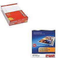 KITSWI3745690UNV20630 - バリューキット - Swingline ラミネートパウチ (SWI3745690) ユニバーサル穴あきエッジライティングパッド (UNV20630)