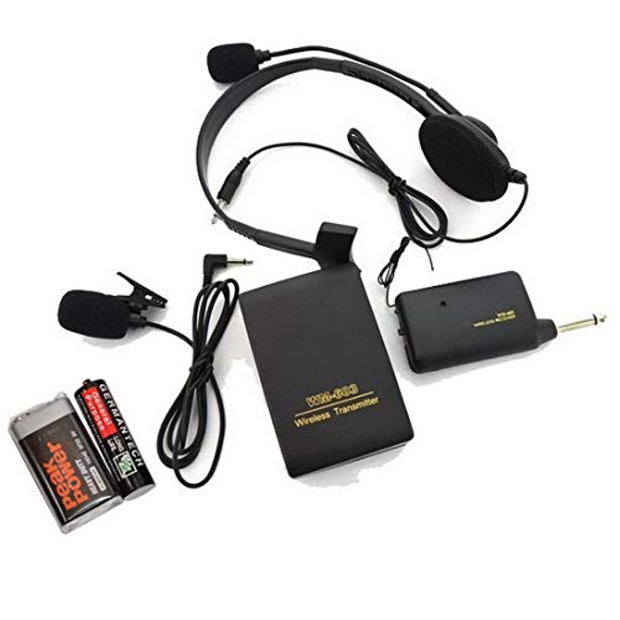 ペイントクラシカルケージワイヤレスマイク ヘッドセット ピンマイク ポータブル50m安定したワイヤレス伝送 軽量 6.5mmモノミニプラグ