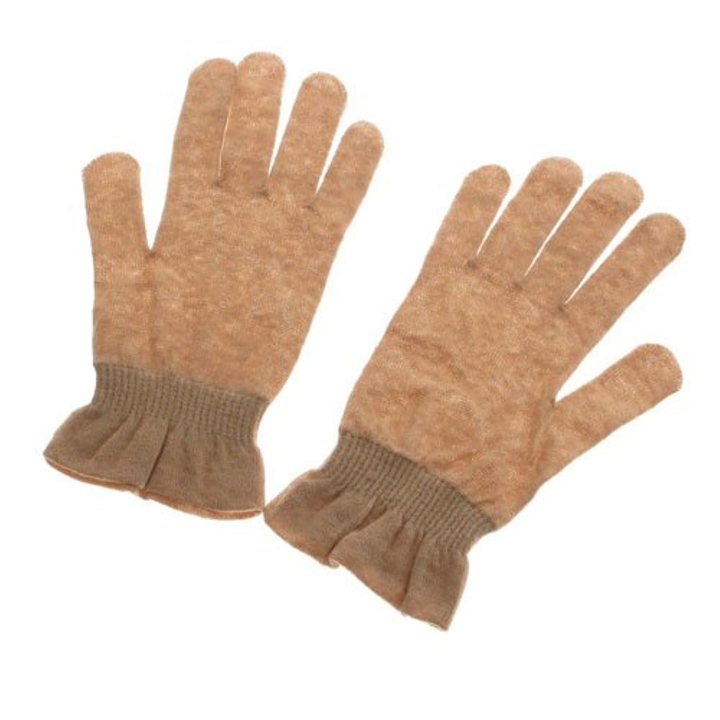 送信するアセゲートオーガニックコットン天衣無縫 UVカット手袋?エステ ブラウン フリー
