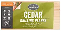 Fire & Flavor Natural Red Cedar Medium Grilling Planks 5.5 X 11 Inch 10 Count [並行輸入品]