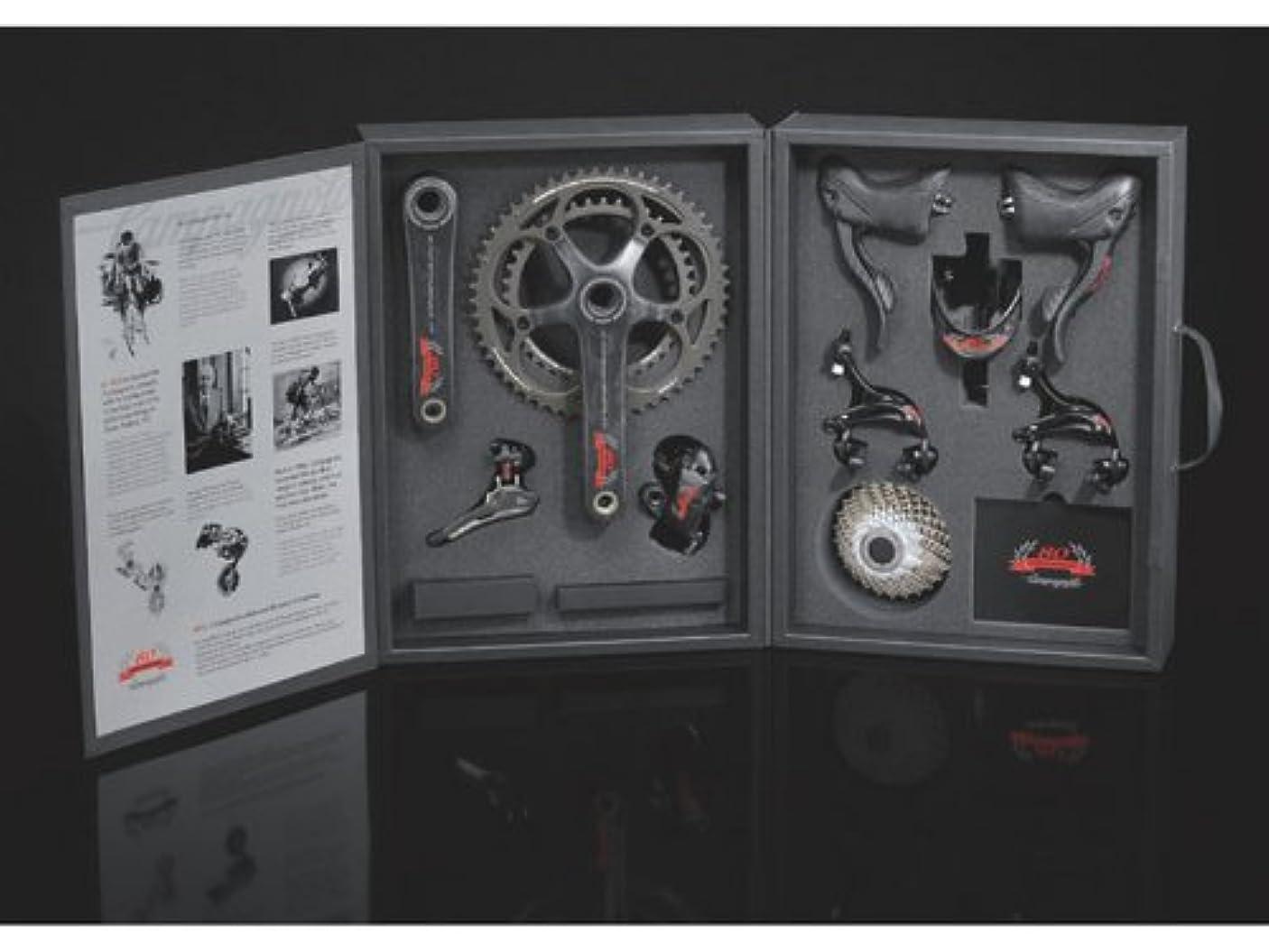 ためらう磁気くすぐったいカンパニョーロ(CAMPAGNOLO) 80周年記念Sレコードコンポ9点セット(ボトルケージ付)