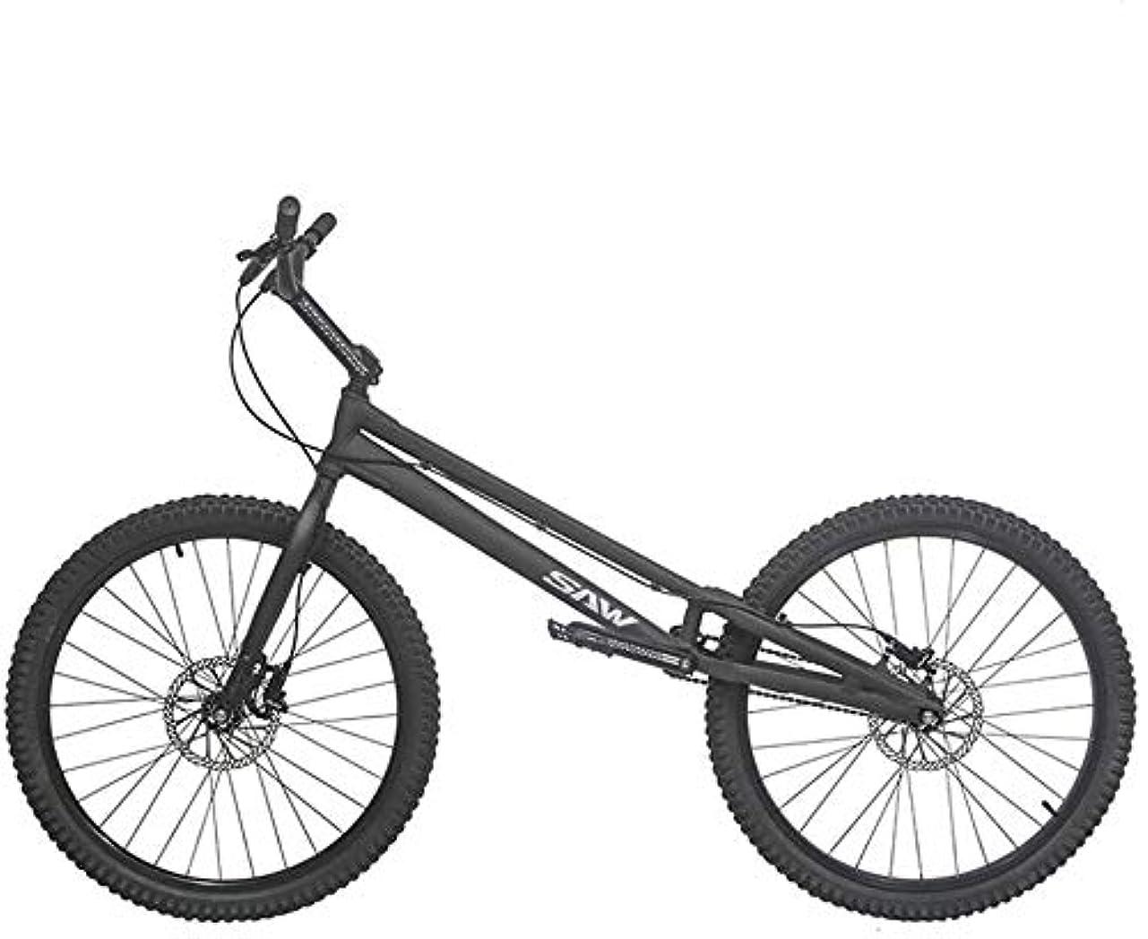 ステレオ例面倒BMX 自転車 2020 SAW-初心者から上級者までの26インチトライアルバイク/バイクトライアル、アルミニウム合金フレームとフォーク、コンプリートバイク,Black,Standard version