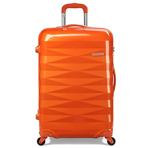 [アメリカンツーリスター] AmericanTourister Crystalite / クリスタライト スピナー 69 (69cm/70L/4.1Kg) (スーツケース・キャリーケース・トラベルバッグ・TSAロック装備・軽量・大容量・ファスナー・保証付) R87*76003 76 (サンセットオレンジ)