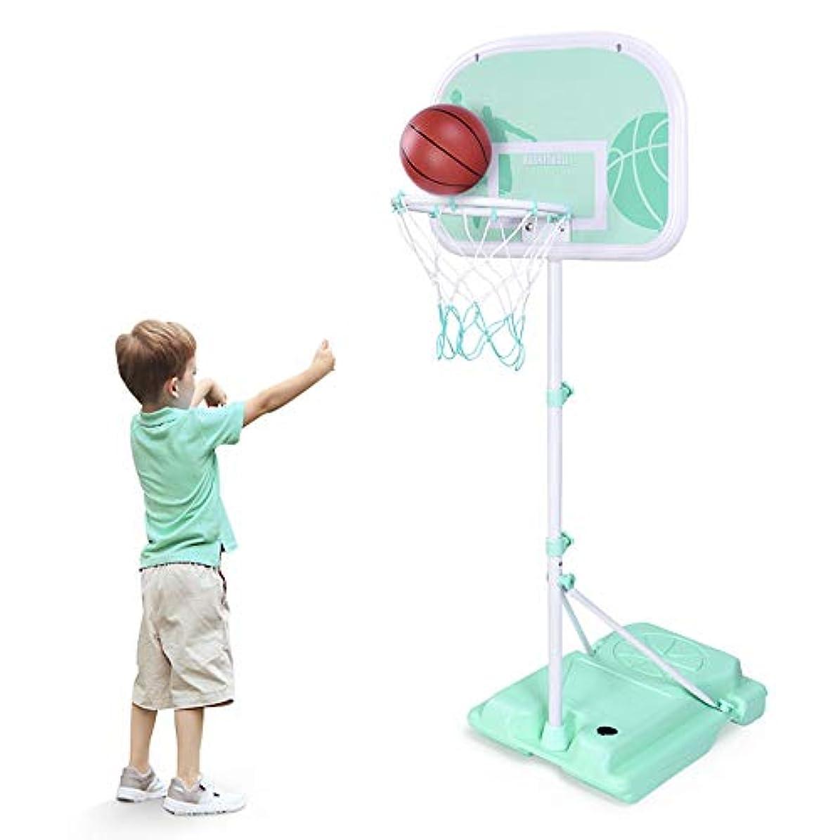 上がるカウンターパート完璧YUXAING キッズ バスケットボールスタンド リフティング 調整可能 スポーツバスケットボールフープ 屋内屋外 8-10歳 子供達 おもちゃを撃つ 2サイズ