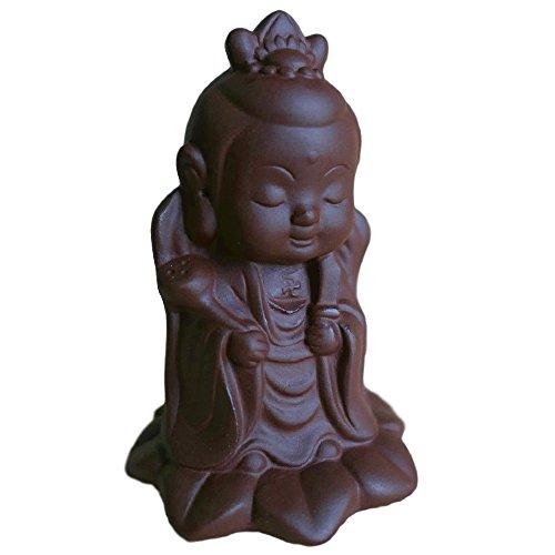 [禅生] 観音菩薩 仏像 蓮花 【チョコレート色】...