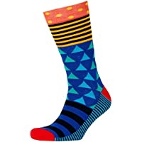 Men's Contrast Mixed Geo Crew Socks