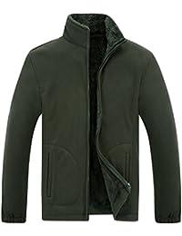 PanegyメンズフリースジャケットFull Zip Up冬暖かい熱Coats Outdoors Sports Wear