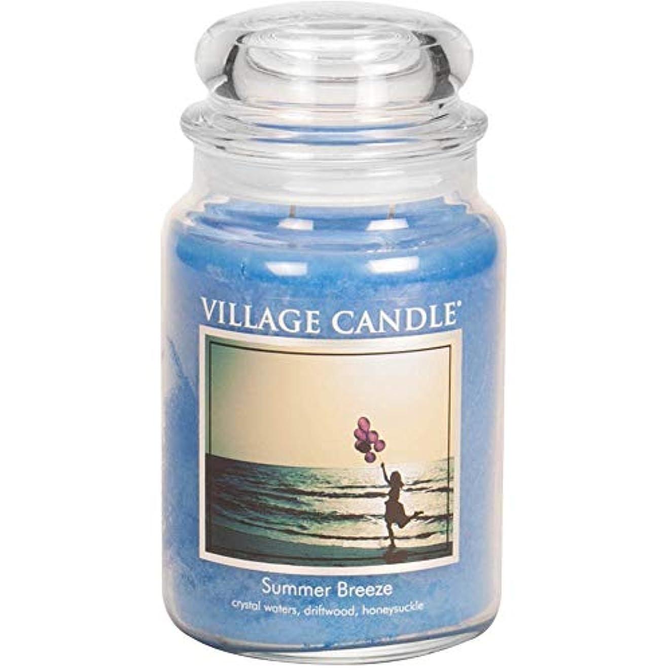 テクトニック鼻挽くVillage Candle Large Fragranced Candle - 17cm x 10cm - 26oz (1219g)- Summer Breeze - upto 170 hours burn time...