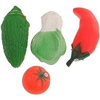Dovewill  プラスチツク製 4個入り 果物 野菜 バービー人形用 装飾 お風呂 おもちゃ