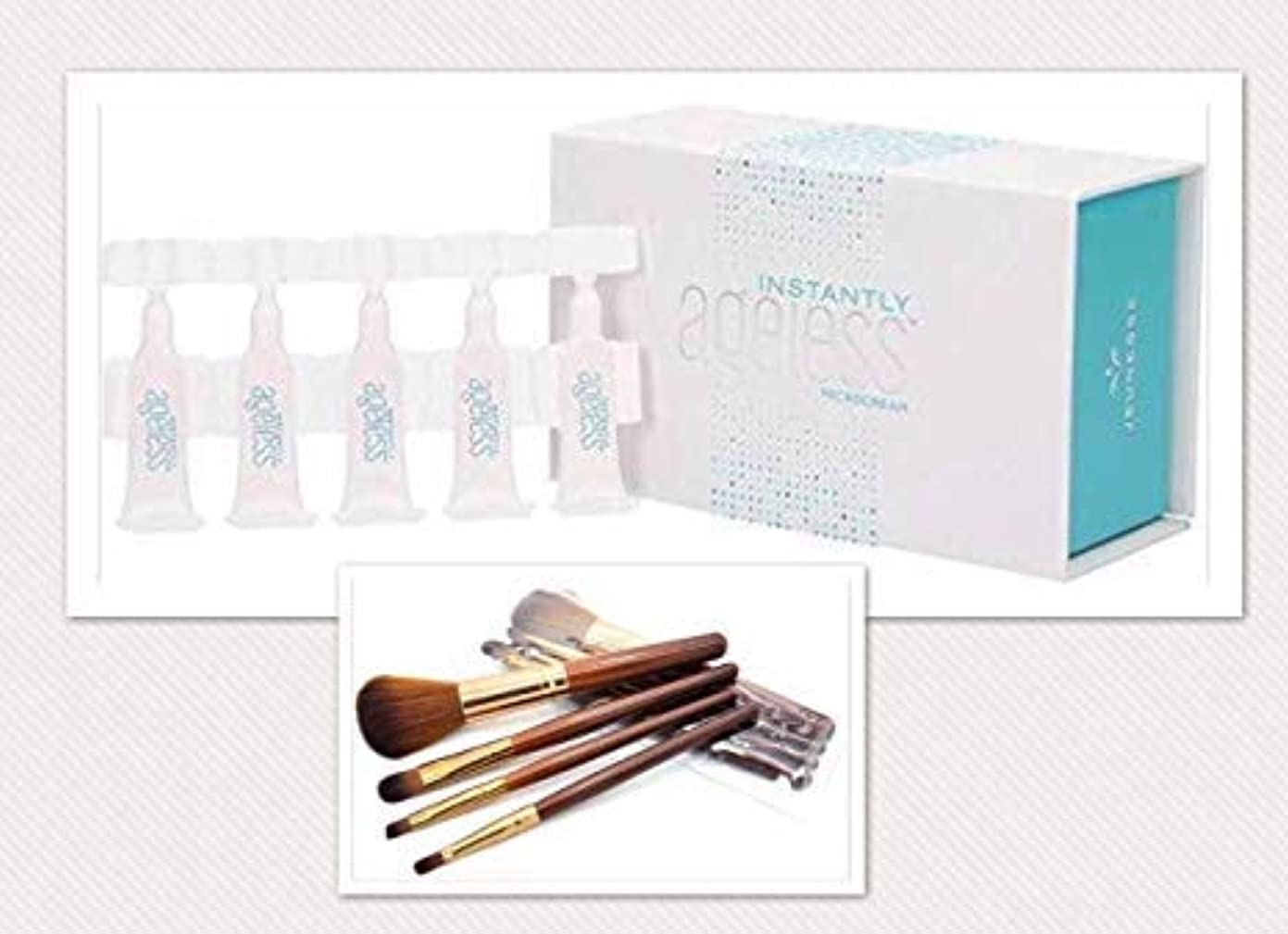 傾く損失ブラザーJeunesse Instantly Ageless 25 Vials. with 4 FREE travel size makeup brushes and case【並行輸入品】メイクブラシ4本付き