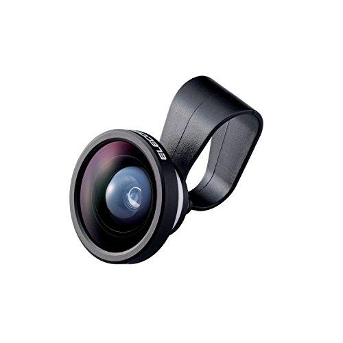 エレコム 自撮り セルカレンズ 0.4倍広角レンズ スーパーワイド シルバー P-SL04SV