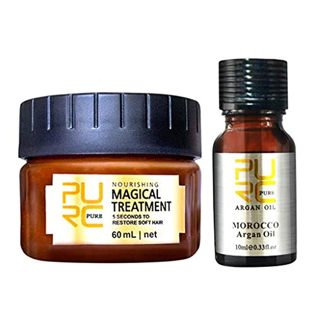 ビーム必要条件カバーSakuraBest PURC Magical Keratin Hair Treatment Mask 5 Seconds Repairs Damage Hair Root Hair Tonic Keratin Hair...