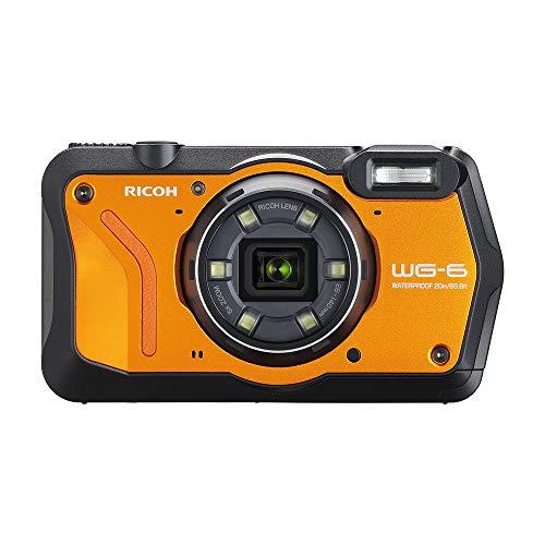 RICOH 防水デジタルカメラ WG-6 オレンジ 防水20m 耐ショック2.1m 耐寒-10度 耐荷重100kg リコー オレンジ 118.2mm×65.5mm×33.1mm WG-6 OR 03851