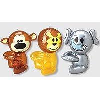 12 pack - Hug Me - WILD ZOO animal inflates -12 inch [並行輸入品]