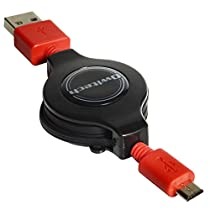 オウルテック 急速充電専用ケーブル 1m巻取り ブラック microUSB 2.4A出力対応 Galaxy/Xperia等スマートフォン タブレットPC対応 OWL-CBRJ(B)-SP/U2AT
