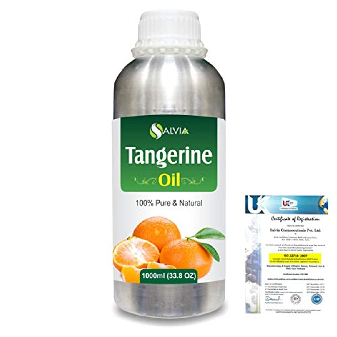 リー洪水スロベニアTangerine (Citrus nobilis) 100% Natural Pure Essential Oil 1000ml/33.8fl.oz.