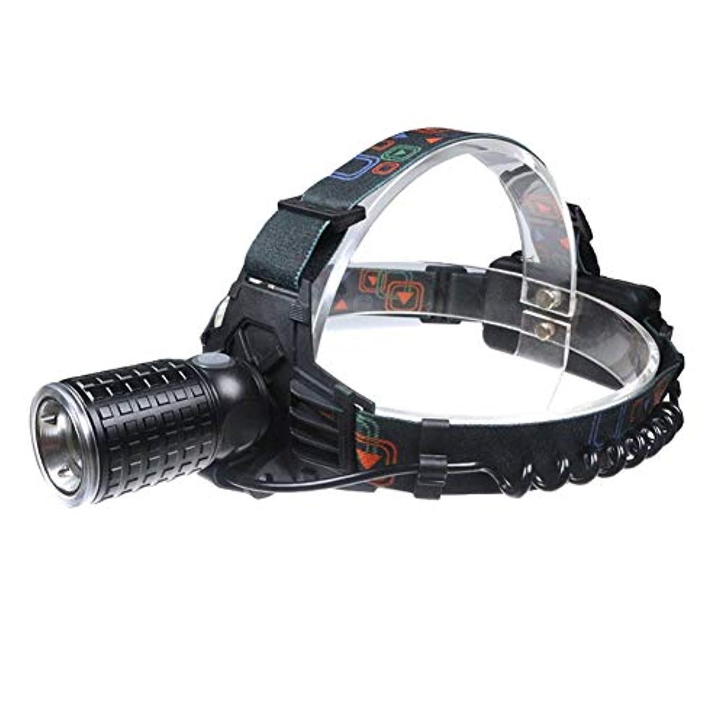 塊把握制限T6 + 12LED調整可能ヘッドライト回転フォーカススーパーブライトフィッシングライトパトロールライトライフ防水ウォーキング、キャンプ、読書、ハイキング