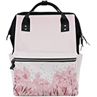 ママバッグ マザーズバッグ リュックサック ハンドバッグ 旅行用 桜の海柄 ファション