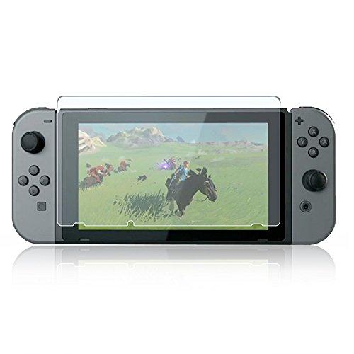 AVIDET Nintendo Switch フィルム ガラスフィルム 9H硬度の液晶保護 2.5D 0.2mm超薄型 日本板硝子社国産ガラス採用 耐指紋 撥油性 高透過率 ラウンドエッジ加工