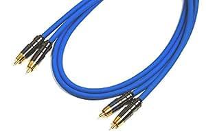 ベルデンBELDEN 8412-BLUE 青 RCA ケーブル プラグ付 3.0ft(92cm)【赤青ペア】