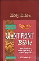 Holy Bible: Giant Print Bible/King James Version/Burgundy/Gp3Bg
