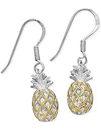 [ハワイアン シルバー ジュエリー] Hawaiian Silver Jewelry パイナップル フックピアス イエローゴールド トーン シルバー925 [インポート]