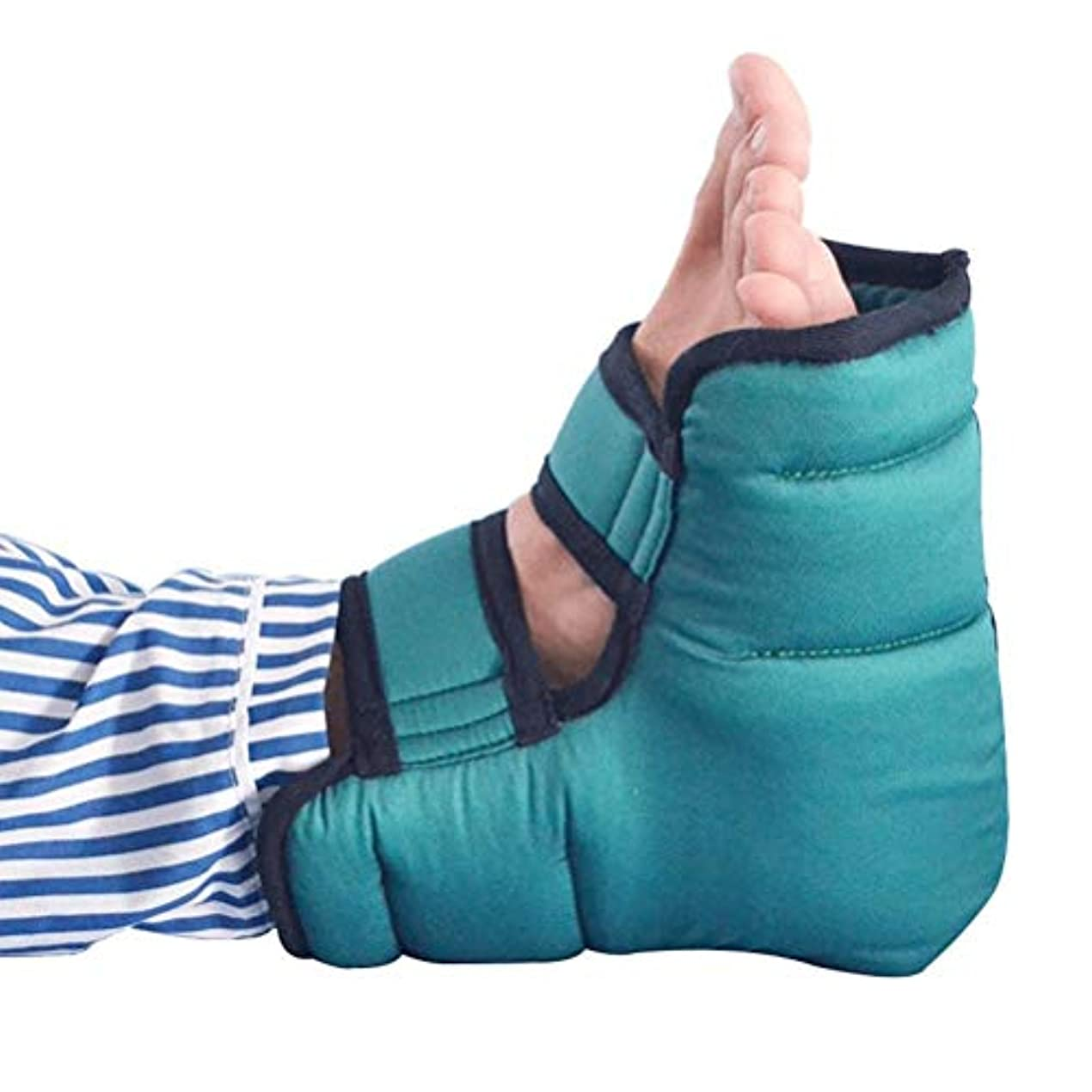 強調操る呪いBed瘡防止綿通気性ヒールクッション、圧力緩和ヒールプロテクター、通気性ヒールプロテクター枕、青、1ペア、24×23 cm