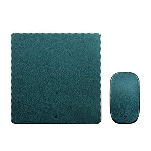 Design Magic Mouse ケース カバー&マウスパッド セット 本革 収納ポーチ Minerva Box Leather ブルー マジックマウス専用 レザー 日本正規代理店品