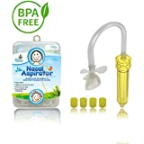 Ritalia Baby Nasal Aspirator with 4 Hygiene Filters. Sinus Congestion Relief for Newborns, Infant and Toddlers. Free of BPA, Safe and Non Toxic.