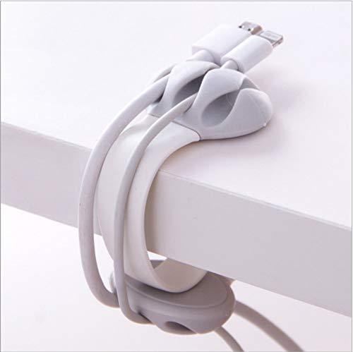 巻き取り式 ケーブルクリップ USBケーブル 卓上ホルダー Aiueo 猫爪...