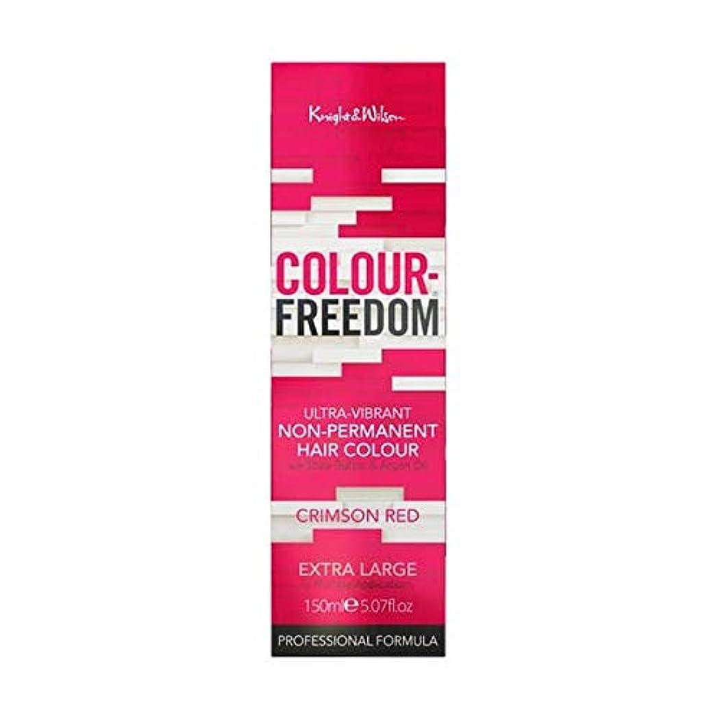 精査直面する対[Colour Freedom ] 赤062深紅色の自由度 - Colour Freedom Crimson Red 062 [並行輸入品]