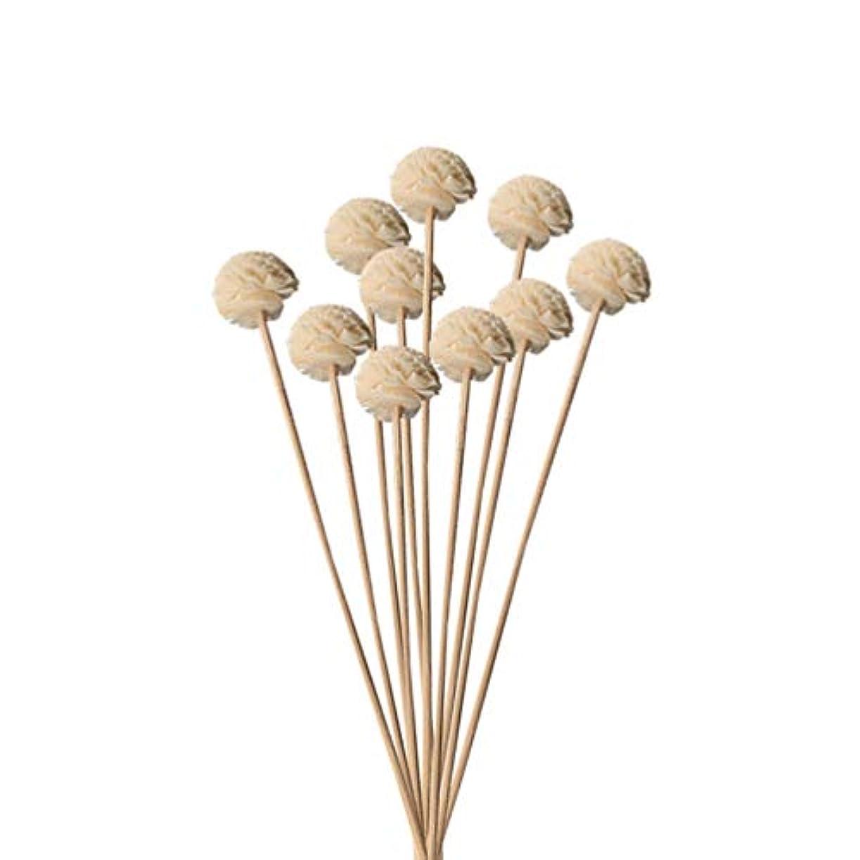 無限経営者知り合いHongma 10本入り 造花 ラタンスティック リードディフューザー用 リフィル 高品質 かわいい クラフト 本色