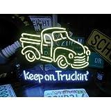 ネオンサイン 【【KEEP ON TRUKIN】キープオントラック(ネオン管 看板 アメリカン雑貨 ・NEON SIGN・ネオンサイン)