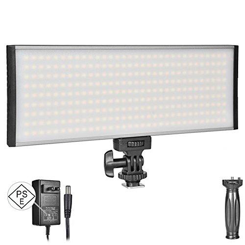 UTEBIT 撮影用 LED カメラライト 30W ACアダプタ 付 PSE取得品 撮影 照明 バイカラー 調光可 3000lm 大光量 ビデオライト ハンドグリップ シュー付き NP-F550 / NP-F750 / NP- F960 / DCアダプタ 給電対応 PT-30B