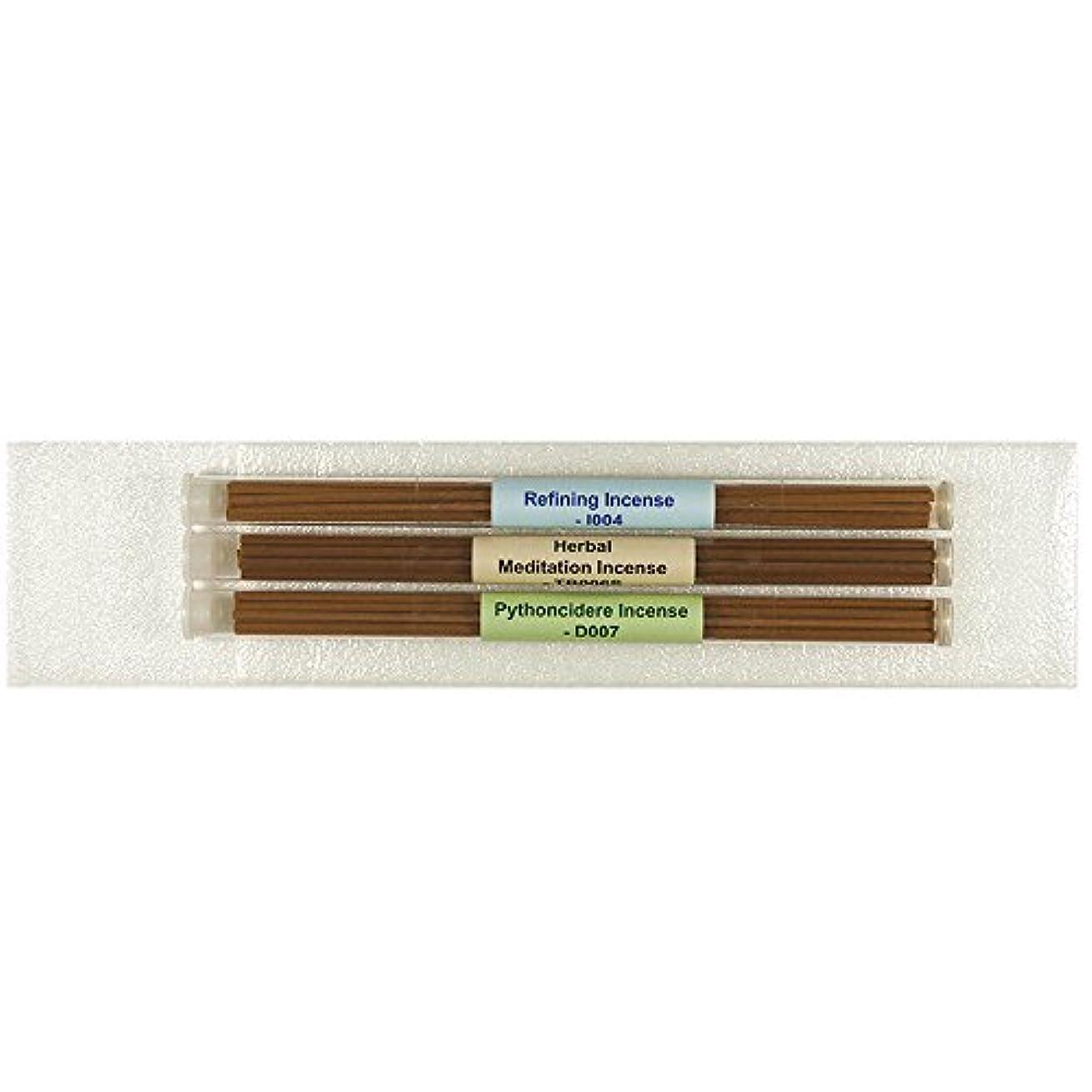 ブロックするバスルームイヤホン3チューブTibetan Incenseパック# 3 – [ Refining Incense +ハーブMeditation Incense ø4 mm + Pythoncidere Incense ] – 8