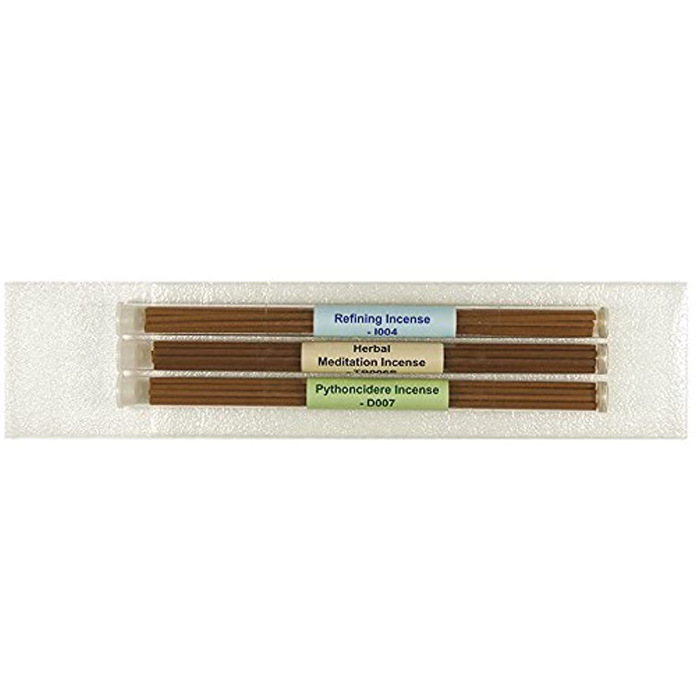 法廷再生可能パッド3チューブTibetan Incenseパック# 3 – [ Refining Incense +ハーブMeditation Incense ø4 mm + Pythoncidere Incense ] – 8