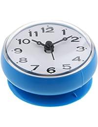 SunniMix 防水 キッチン バスルーム  サクションカップ 時計 多種選べる - 青