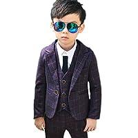 c106c42bb229a YUEGUANG 子供服 男の子 スーツ 3点セット フォーマルスーツ 入学式スーツ ボーイズ フォーマル 子供