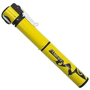AiraceUSA 【全5色】自転車用ミニポンプ コンパクト携帯ポンプ 空気入れ 仏式/米式/英式バルブに対応 台湾製 (イエロー)
