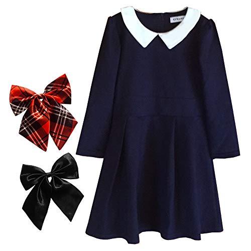 c3de70abd228f (ディーコッテ) D Kotte フォーマル 女の子 子供服 制服風 ボウタイ付き 長袖 冠