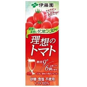 伊藤園 理想のトマト 紙パック 200ml×48個(24個×2ケース)